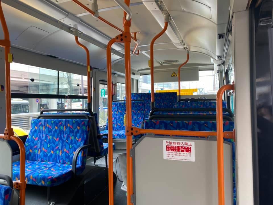 BRT連節バスの試運転